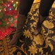 Dominatrix Mistress Troy wears olive-green suede Cole Haan boots to a Christmas gathering
