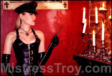 MISTRESS TROY Professional Dominatrix New York City NY conducts female domination, fetish, and BDSM sessions with 				male slaves, submissives and masochists