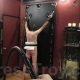 Mistress Troy starts breaking in her new bullwhip, New York City