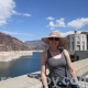 Mistress Troy on the Hoover Dam by Lake Mead, Nevada