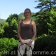 Mistress Troy with her bullwhip on the stunning grounds of Villa Domme in Italy